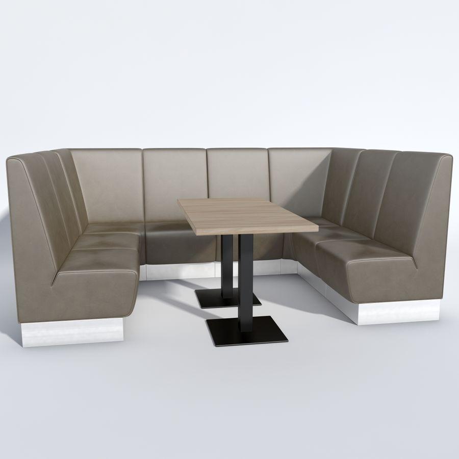 Posto a sedere Aura royalty-free 3d model - Preview no. 10