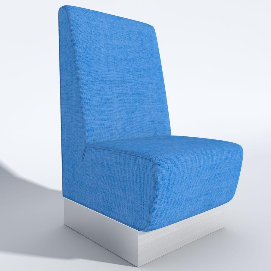 Posto a sedere Aura royalty-free 3d model - Preview no. 3