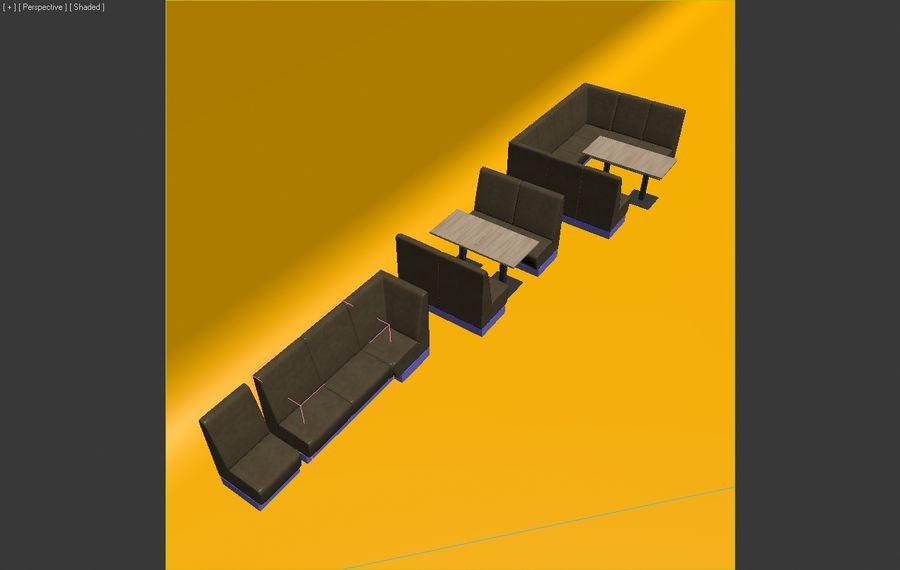 Posto a sedere Aura royalty-free 3d model - Preview no. 11