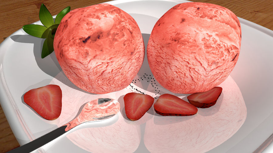Ice cream royalty-free 3d model - Preview no. 3