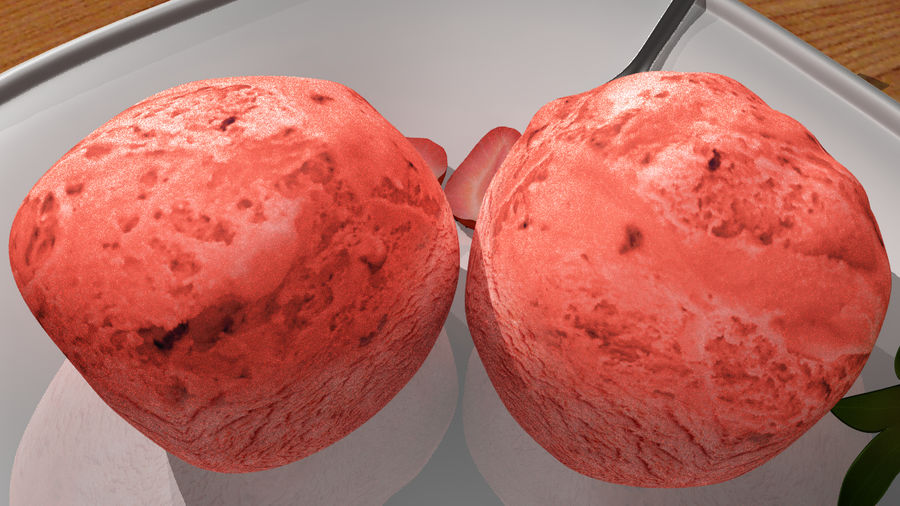 Ice cream royalty-free 3d model - Preview no. 5