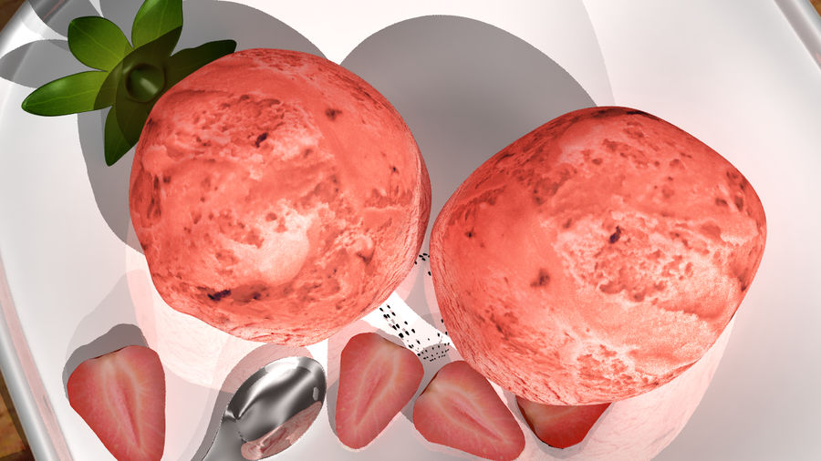 Ice cream royalty-free 3d model - Preview no. 4
