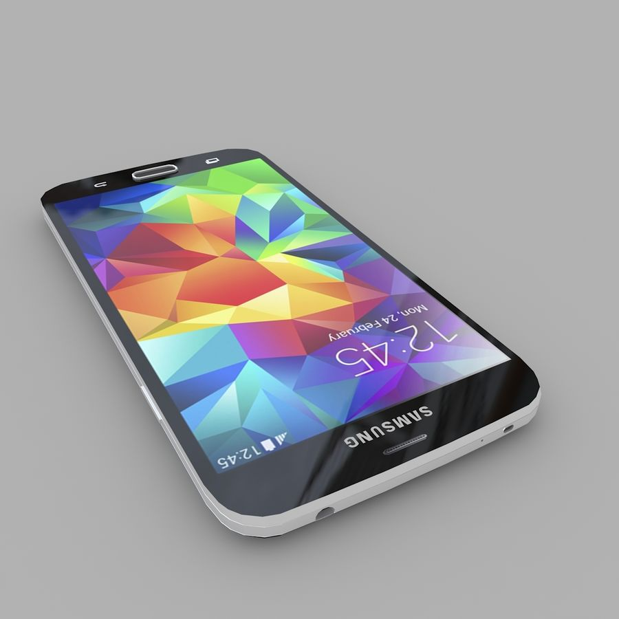 Samsung Galaxy S5 royalty-free 3d model - Preview no. 4