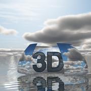 하늘 3D 날 019 3d model