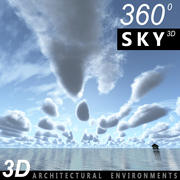 하늘 3D 날 046 3d model