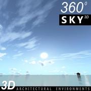 하늘 3D 날 052 3d model