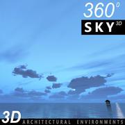 하늘 3D 날 057 3d model