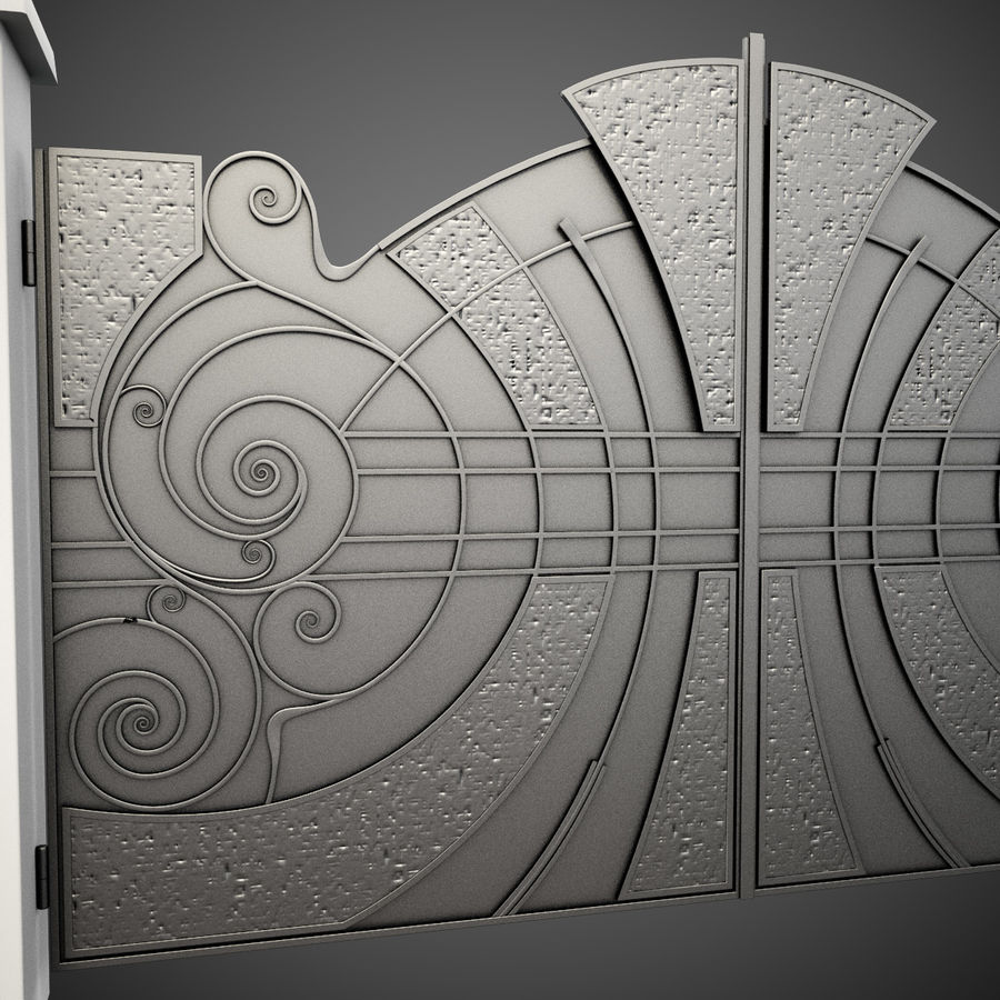 Wrought Iron Gate 25 royalty-free 3d model - Preview no. 8