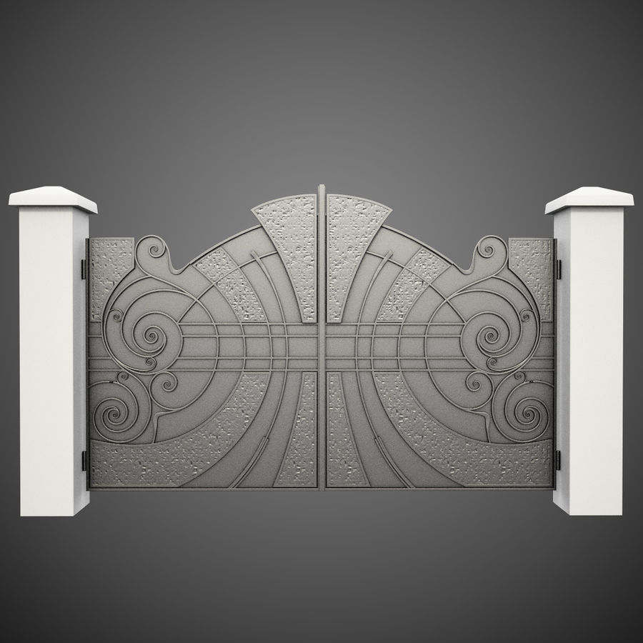 Wrought Iron Gate 25 royalty-free 3d model - Preview no. 1