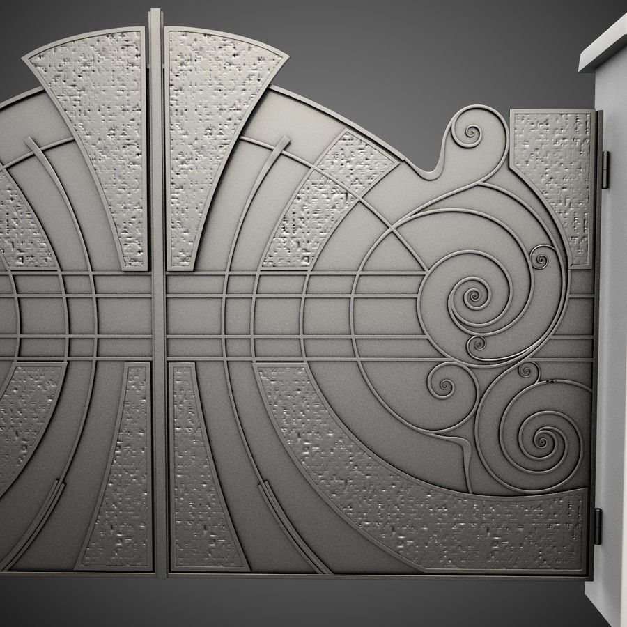 Wrought Iron Gate 25 royalty-free 3d model - Preview no. 7