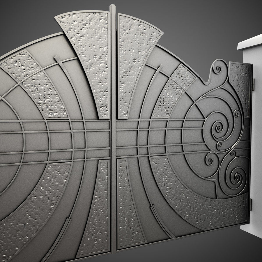 Wrought Iron Gate 25 royalty-free 3d model - Preview no. 6
