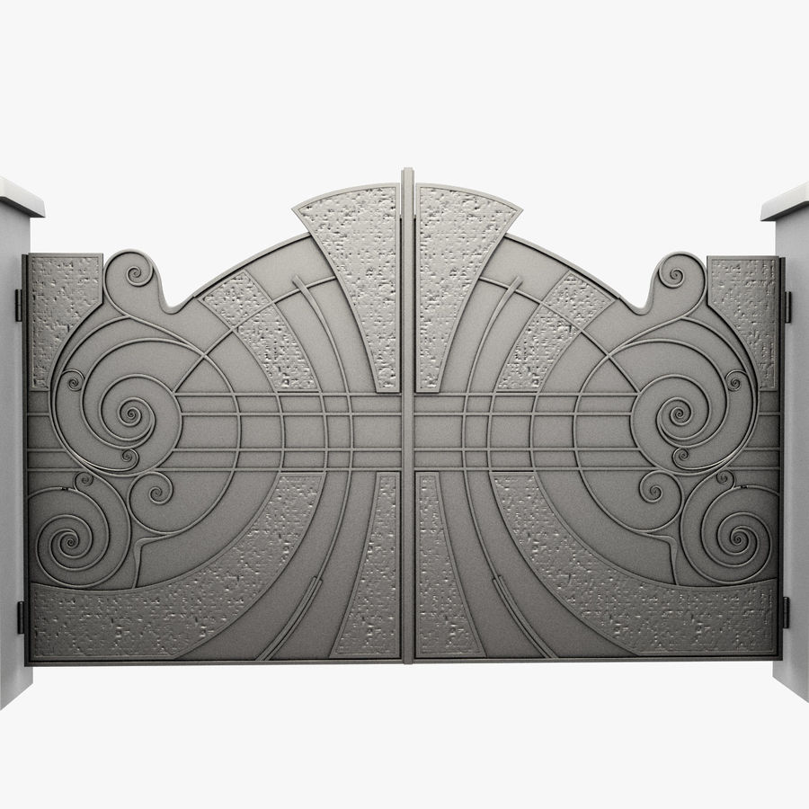 Wrought Iron Gate 25 royalty-free 3d model - Preview no. 9
