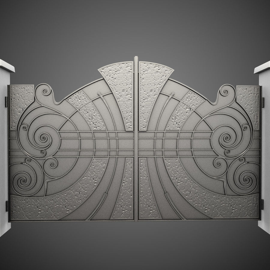 Wrought Iron Gate 25 royalty-free 3d model - Preview no. 2