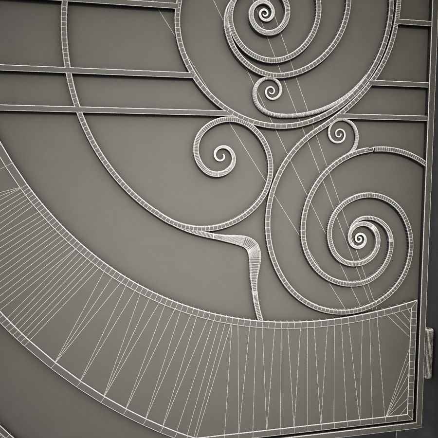 Wrought Iron Gate 25 royalty-free 3d model - Preview no. 10