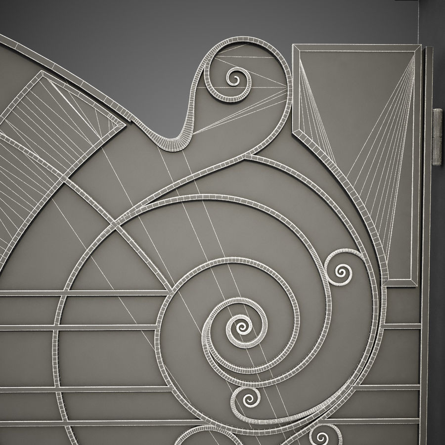 Wrought Iron Gate 25 royalty-free 3d model - Preview no. 12