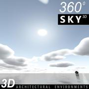 하늘 3D 날 068 3d model