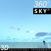 하늘 3D 날 097 3d model