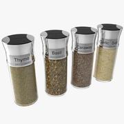 Spice Bottles Set 4 3d model