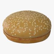 Sesam Hamburger Brötchen 3d model