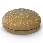 참깨 씨앗 햄버거 빵 3d model