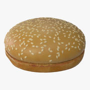 Sesam Hamburger Brötchen 3d model