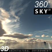 하늘 3D 날 017 3d model