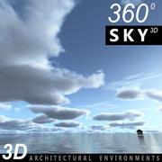 하늘 3D 날 038 3d model