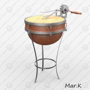 Mechanical drum 3d model