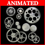 Ten kinds of gear with animation 3d model