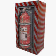 Fire extinguishers on wall suspension hanging pendant 3d model