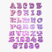 Alfabet Letter Tekens 3d model