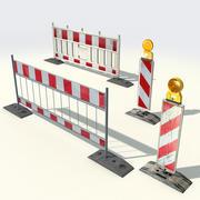 Barreiras de rua 3d model