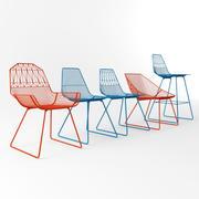 Set di sedie pieghevoli 3d model