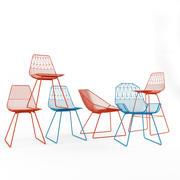 Buigstoelen set 3d model
