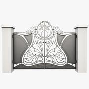 Wrought Iron Gate 14 3d model