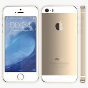 iPhone 5S Gold modelo 3d