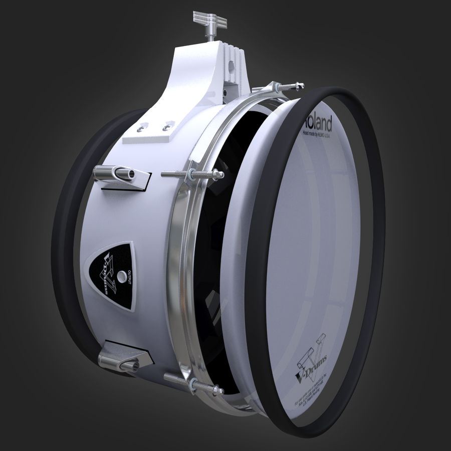 PD-105 Roland Snare Drum royalty-free 3d model - Preview no. 6