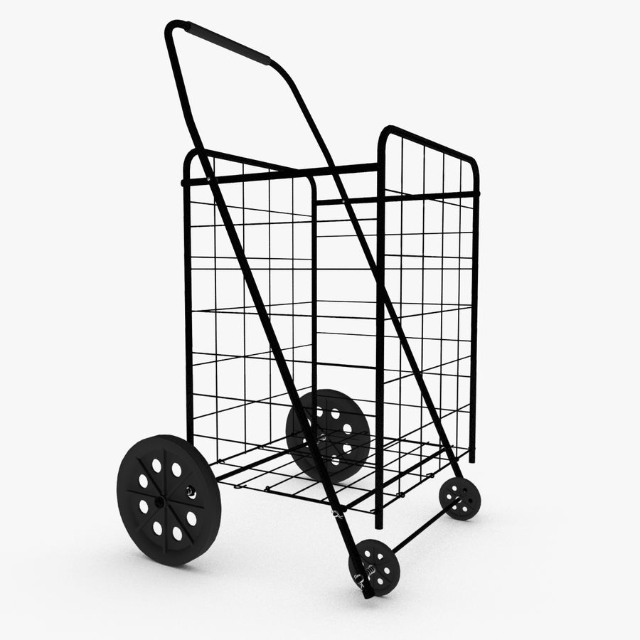 Rolling Utility Shopping Cart royalty-free 3d model - Preview no. 1