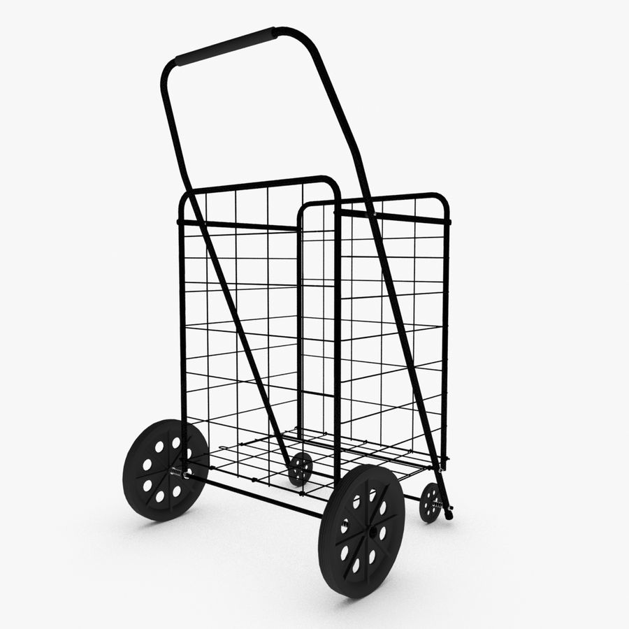 Rolling Utility Shopping Cart royalty-free 3d model - Preview no. 2