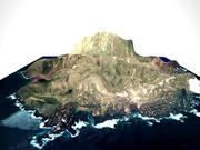 Vulkanisch eiland 3d model