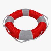 Salvavidas rojo modelo 3d
