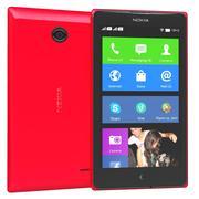 Nokia X & X+ Red 3d model