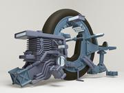 monocycle 3d model