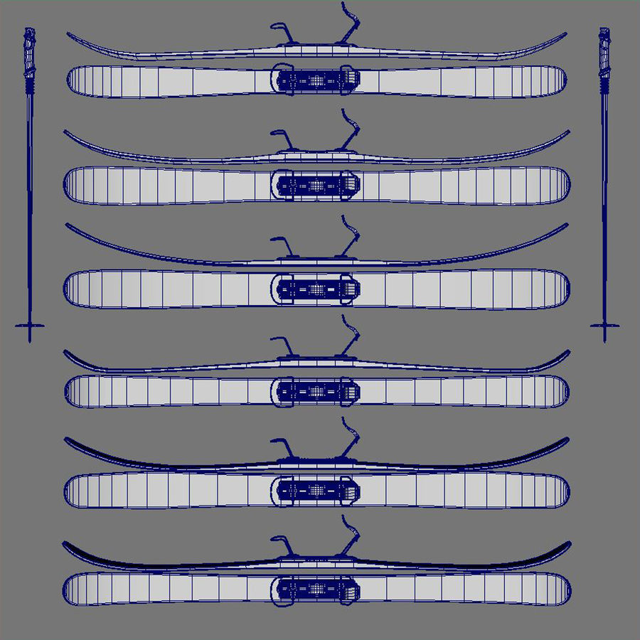 ski board Collection royalty-free 3d model - Preview no. 10