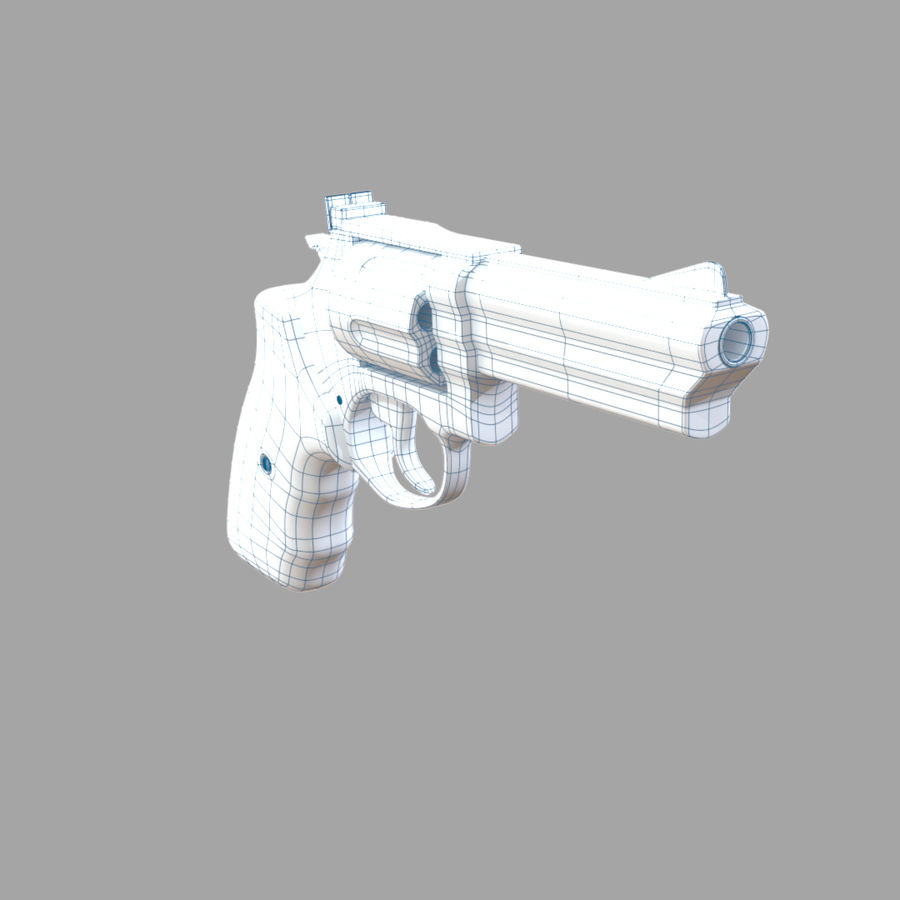 Revolver royalty-free 3d model - Preview no. 17