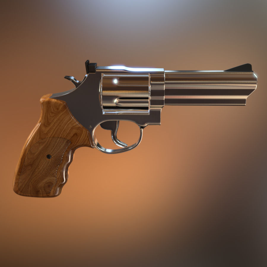Revolver royalty-free 3d model - Preview no. 6