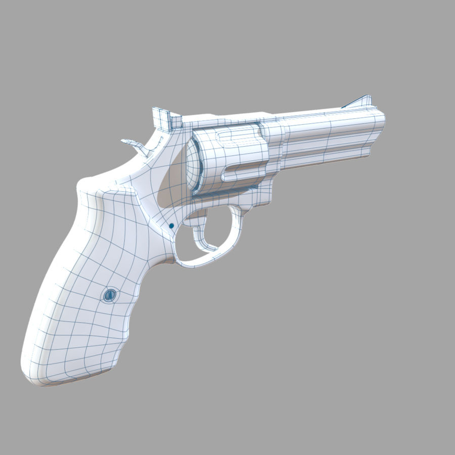 Revolver royalty-free 3d model - Preview no. 14