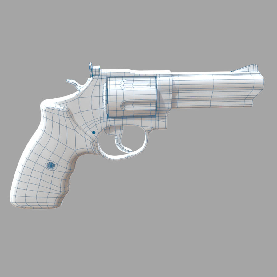 Revolver royalty-free 3d model - Preview no. 15