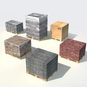 Paletes e cargas 3d model