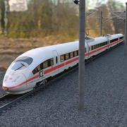스피드 트레인 Ice3 + Rails 3d model